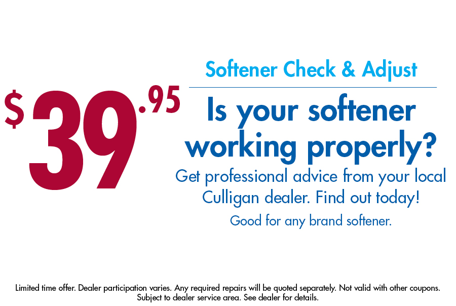 Water Softener Inspect Amp Check Only 39 95 Culligan Water